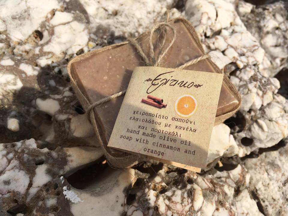 Olive oil soap with cinammon and orange