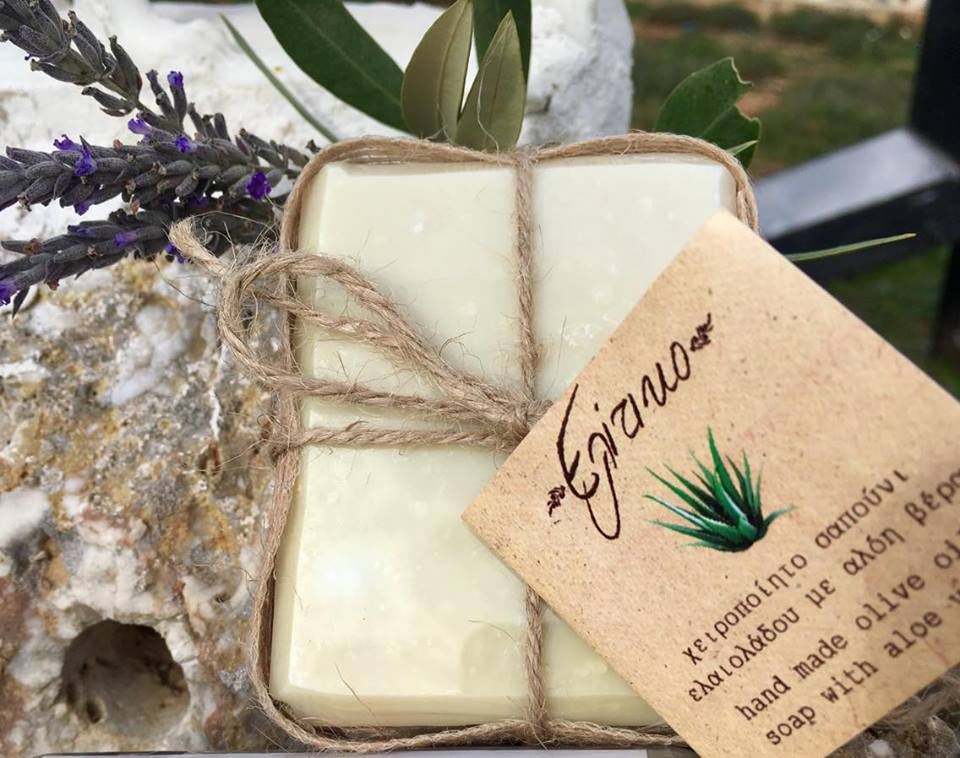 Pure hand made olive oil soap with Aloe Vera