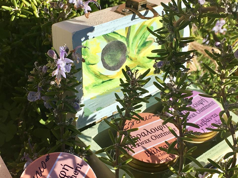 Beeswax ointment with levander and herbs
